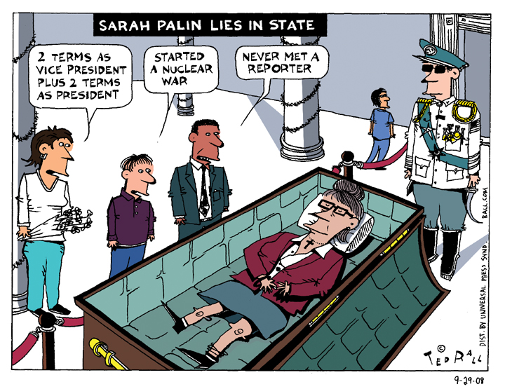 Sarah Palin Lies in State